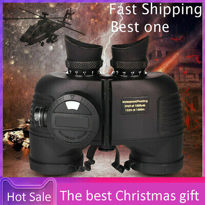 £77.93 • Buy 7 X 50 Outdor Military Waterproof HD Binoculars With Compass Range Finder Rubber