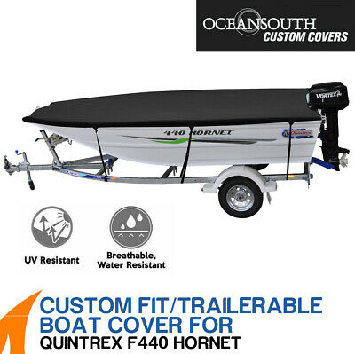 AU249 • Buy Oceansouth Custom Fit Boat Cover For Quintrex F440 Hornet Boat