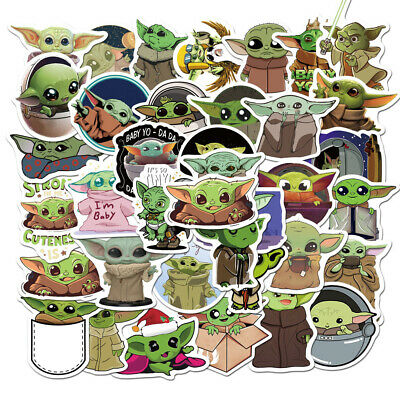$7.99 • Buy 50 Pc Baby Yoda Stickers The Mandalorian Merchandise For Hydro Flask Laptop