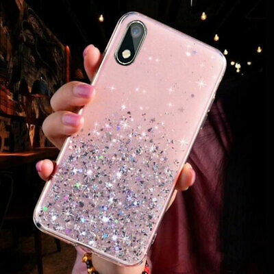 For Huawei Y5P Y5 Y6 Y7 Y9 2019 Mate 20 Glitter Rubber Phone Case Soft TPU Cover • 3.19£