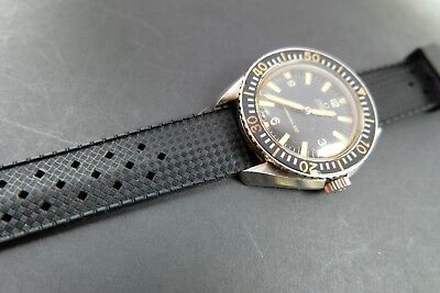 Rubber Dive Watch Strap/band For Omega/rolex Swiss Watches Tropical Free Post • 25£