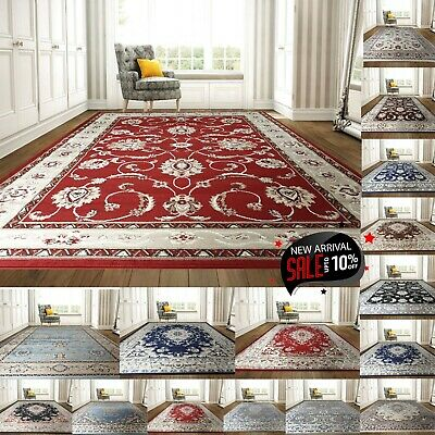 New Classic Vintage Area Rugs Living Room Traditional Carpets Hallway Runner Mat • 149.99£