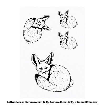 'Fennec Fox' Temporary Tattoos (TO016001) • 4.99£