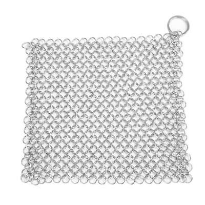 $ CDN13.53 • Buy Stainless Steel Brush Pot Net Cast Iron Square Chainmail Home Kitchen Clean N#S7