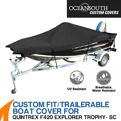 AU249 • Buy Oceansouth Custom Fit Boat Cover For Quintrex F420 Explorer Trophy Side Console