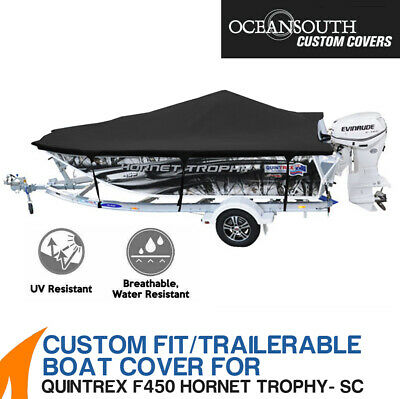 AU289 • Buy Oceansouth Custom Fit Boat Cover For Quintrex F450 Hornet Trophy Side Console