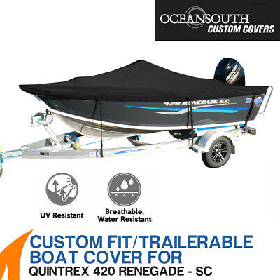 AU255.30 • Buy Oceansouth Custom Fit Boat Cover For Quintrex 420 Renegade Side Console