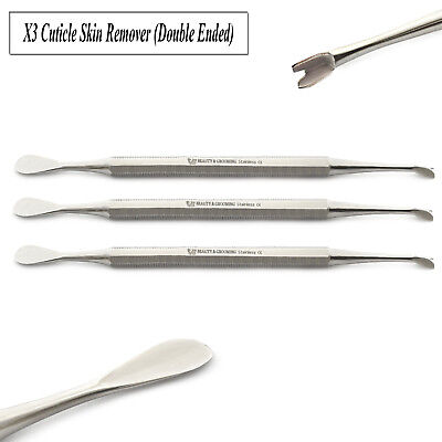 £6.37 • Buy Manicure Cuticle Skin Knife Trimmer Nail Art Remover Spoon Hand Spatula Set Of 3