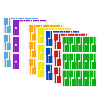 8Sheet Self-adhesive Cable Labels Identification Markers Tags Labels Sticker UK • 7.03£