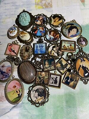 $ CDN1.29 • Buy Mixed Lot Of Altered Art Charms,jewelry Making, Crafts, Mixed Media Supplies