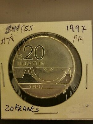 $65 • Buy Swiss Coin 20 Francs1997