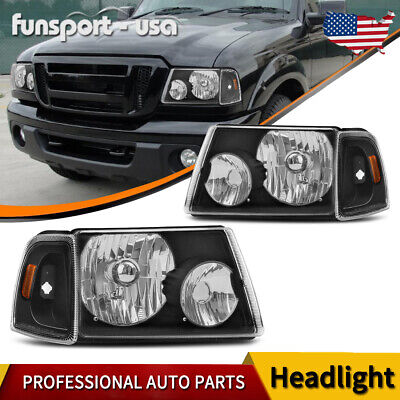 $66.51 • Buy For 2001-2011 Ford Ranger Black Clear Headlights + Corner Turn Signal Lamps L&R