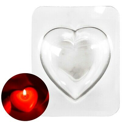 4 X LOVE HEART MOULD Large 100mm Multi Wick Candle Valentines Wax Melt Gift Mold • 6.71£