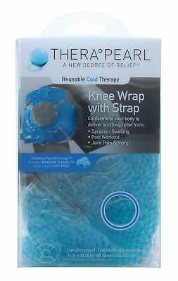 TheraPearl Reusable Cold Therapy Knee Wrap With Strap & Gel Beads - Best Ice Bag • 6.99£