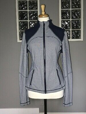$ CDN62.40 • Buy Lululemon Forme Jacket 8 Inkwell White Gingham Eeuc Define Shape
