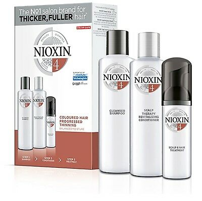 AU41.98 • Buy Nioxin System 4 Starter Kit For Progressed Thinning Coloured Hair Aus Stock