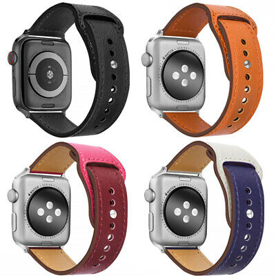 $ CDN7.06 • Buy 38mm 42mm Rivet Leather Sports Apple Watch Band Strap For IWatch Series 5 4 3 2