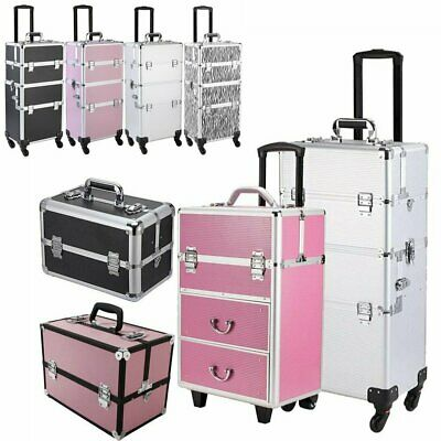 $23.49 • Buy Professional 3 In 1 Aluminum Rolling Makeup Train Case Beauty Cosmetic Trolley