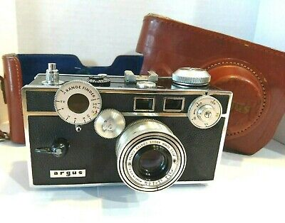 $ CDN59.11 • Buy Vintage Argus 35mm Film Camera  The Brick  50mm F/3.5 Lens With Leather Case USA