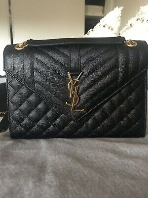AU2100 • Buy YSL St Laurent Medium Envelope Bag New Black