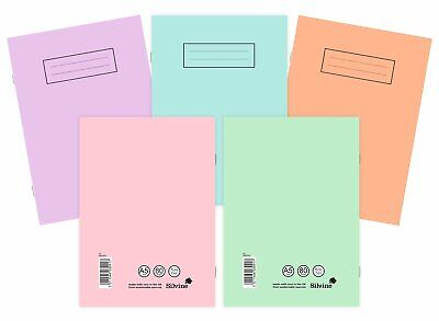 £3.25 • Buy Silvine A4/A5 Pastel/ Bright Exercise Books School Notebooks 80 Pages Class