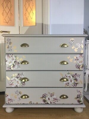 Bespoke Pine Chest Of Drawers In Annie Sloan Paris Grey - Lavender Fields • 149£