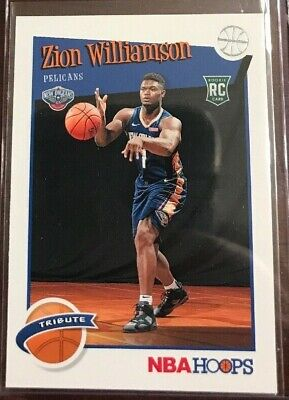 $8.95 • Buy ZION WILLIAMSON 2019-20 NBA HOOPS TRIBUTE ROOKIE RC #296 1st Card In NBA Uniform