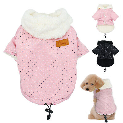 £7.99 • Buy Small Dog Coats For Winter Boy Girl Puppy Pet Clothes Warm Fleece Jacket Hoodie