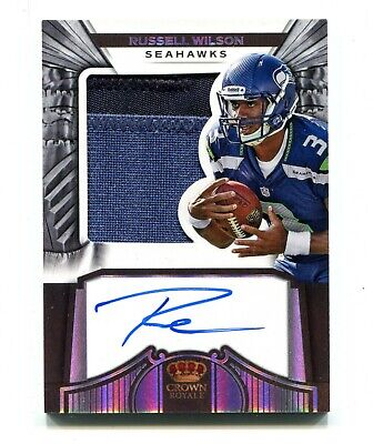 $ CDN365.64 • Buy 2012 Crown Royale Russell Wilson Autograph Auto Jersey Patch Rookie RC /149 RPA