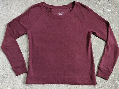 $3.50 • Buy Women's Merona Sz Medium Pullover Burgundy Wine Sweater Jumper Crew NEVER WORN