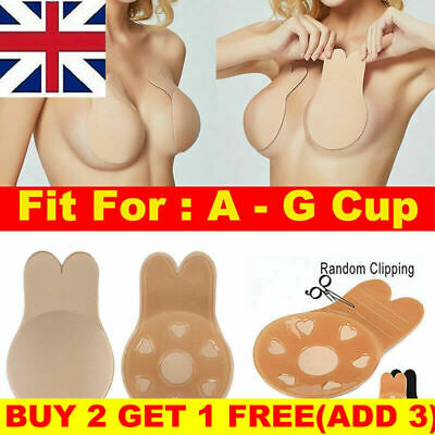 Invisible Silicone Breast Pads Lift Up Nipple Covers Bra Tape Sticker Rabbit Bra • 0.99£