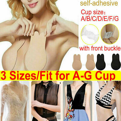 A-G CUP Invisible Breast Lifting Bra Silicone Rabbit Nipple Covers Lift Tape Bra • 0.99£