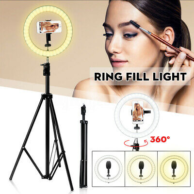 AU97.99 • Buy 10'' Dimmable LED Ring Light Tripod Stand Makeup Selfie Video Photo For
