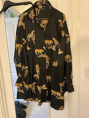 $22.30 • Buy Zara Tiger Oversized Shirt Dress XL