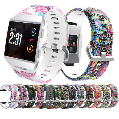 $ CDN10.20 • Buy For Fitbit Ionic Pattern Band Replacement Strap Wristband Metal Buckle Tracker