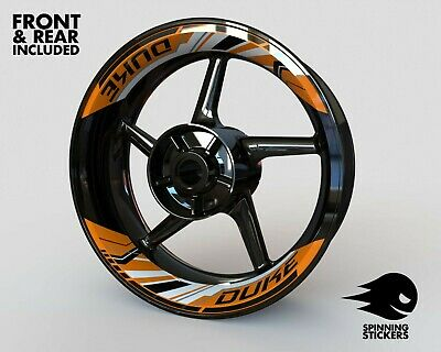 £60.69 • Buy Wheel Stickers For KTM DUKE 690 790 890 990 Rim Tape Motorcycle Decals Graphic
