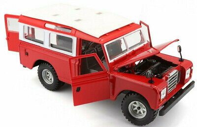 LAND ROVER DEFENDER SERIES II 1:26 Scale Diecast Model Toy Car Miniature Red 110 • 24.97£