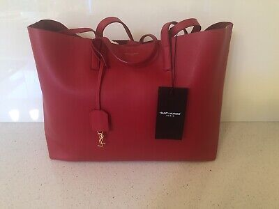 AU1200 • Buy Saint Laurent/YSL 'Shopper' Red Tote Handbag Authentic - Brand New With Tags!
