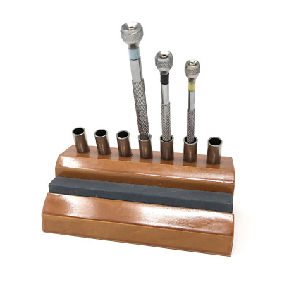 £15.19 • Buy Stand For Watchmakers Screwdrivers & Sharpening Stone Wooden Holder Container