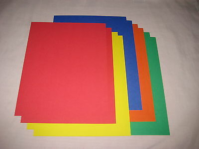 $1.13 • Buy SALE!! 8.5 X 11 CARDSTOCK PAPER - PRIMARY COLORS - LOT OF 10 - NEW!!