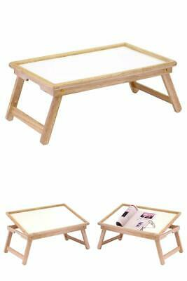 $21.99 • Buy Breakfast In Bed Table Tray Wooden Foldable Legs Lap Laptop Serving Food Eating