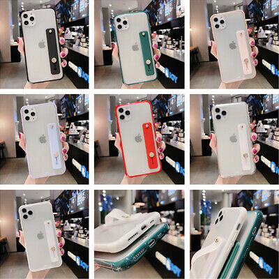 AU5.29 • Buy For IPhone 11 Pro Max XS XR 8 Silicone Hand Strap Holder Soft Bumper Case Cover