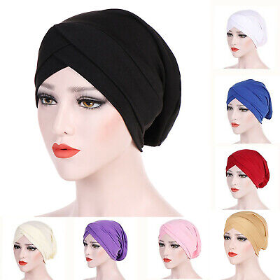 AU10.44 • Buy Turban Cap Hijab Headwear Bandana Head Wrap Women Band Plain Hat Hair Loss Chemo
