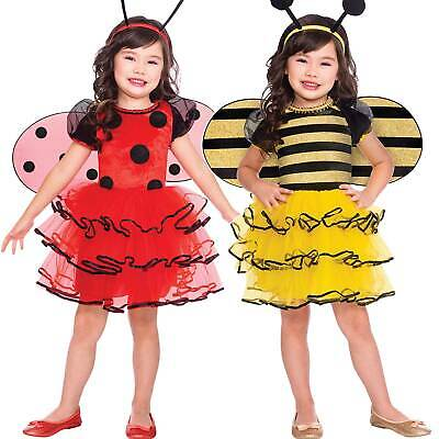 Childs Bumblebee Ladybird Tutu Fancy Dress Costume Book Week Day Girls Kids • 11.99£