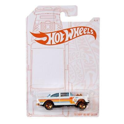 $3.25 • Buy Hot Wheels Chevy Bel Air 55 Gasser Pearl And Chrome 1/64