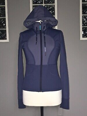 $ CDN70.40 • Buy Lululemon Jacket 6 Blue Stripe Dance Studio Reversible Eeuc Rare Swift