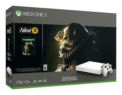 $321 • Buy Xbox One X White Special Edition 1TB Fallout 76 Bundle