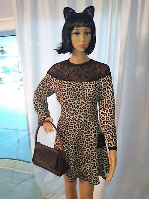 $29.99 • Buy ZARA Scater Leopard Lace Skater Dress Sz XL   New Price $ 69.90