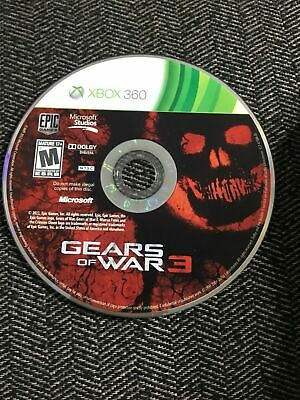 $6.95 • Buy Gears Of War 3 - Xbox 360 - Disc Only - Free S/h - (b9)