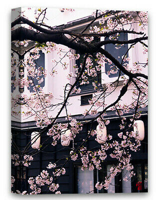 $9.85 • Buy Japanese Cherry Blossom Canvas Wall Art Black And White Home Decor Prints